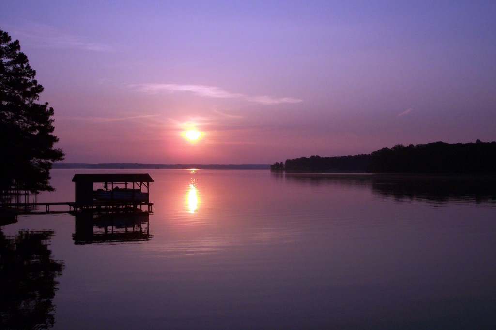 Lake-Gaston-sunrise